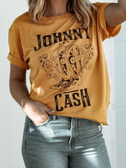 Johnny Cash O-Neck T-Shirt