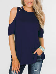 Cross Strapless Short-Sleeved Blouses