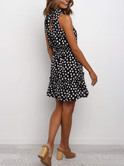 Polka Dot Flounce Skirt Dress