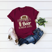 FOOT BALL BEER O Neck T-shirt