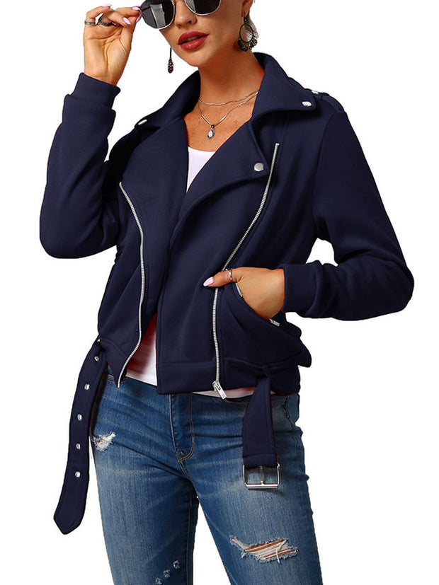 Fashion Lapel Short Winter Plush Coat