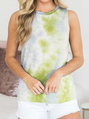 Tie-dye Round Neck Tank Top