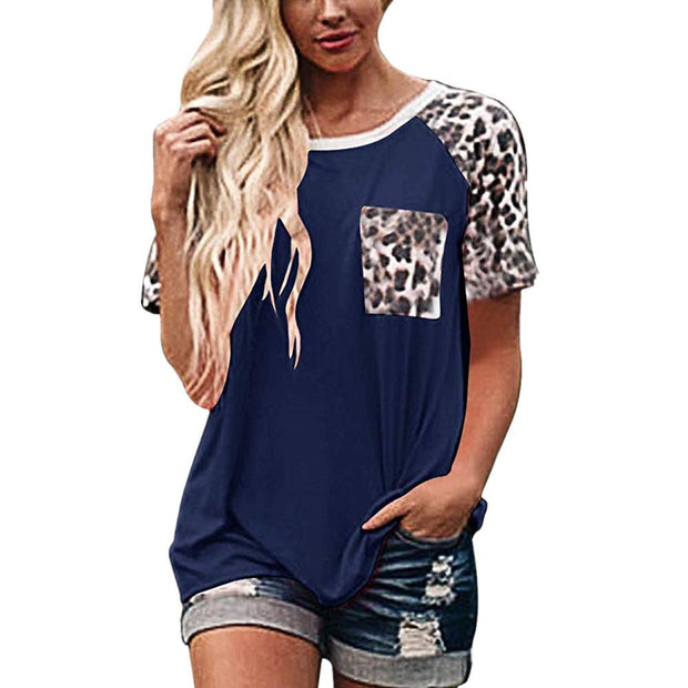 Leopard-Print Short-Sleeved T-shirt