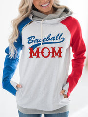 Baseball  Mom Hoodies