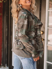 Cool Girl Casual Camouflage Jacket