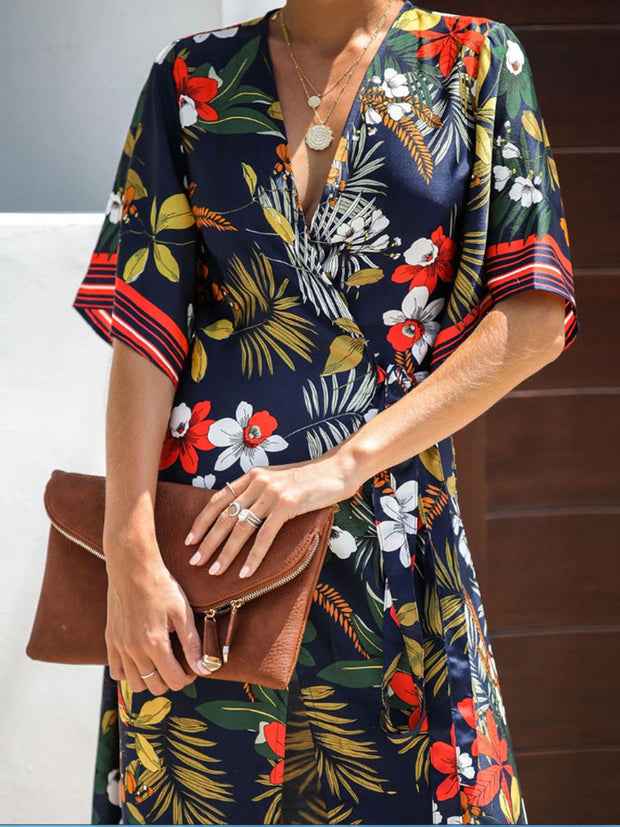 Vacation Style Floral Dress