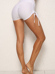 Solid Color Drawstring Shorts
