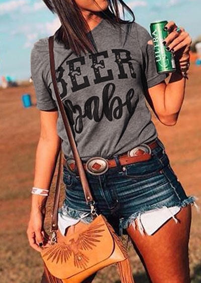 Beer Babe Short Sleeve T-Shirt