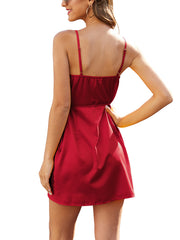V-Neck Anomaly Package Buttocks Mini Dress