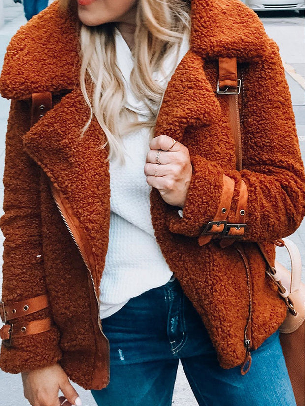 Autumn And Winter New Teddy Plush Coat