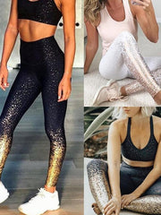 Sexy casual gilded Yoga leggings