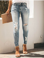 Casual Jeans with Holes
