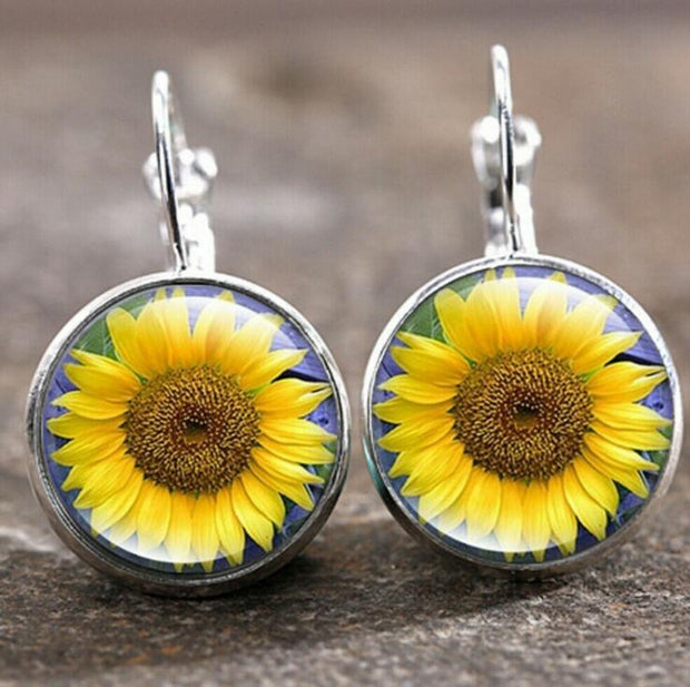 Sunshine Sunflower Alloy Earrings