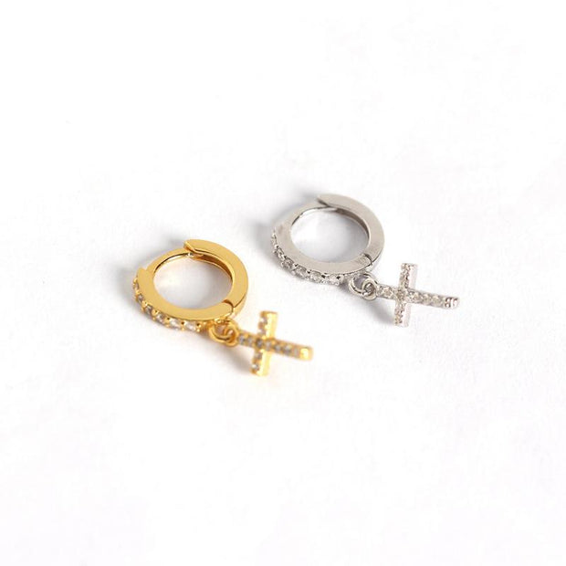 The Cross S925 Silver Women Earring