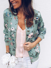 Fashion Printing Round Neck Coat