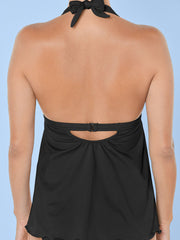 Clearance!!! Women's Halter Solid Color Tankini