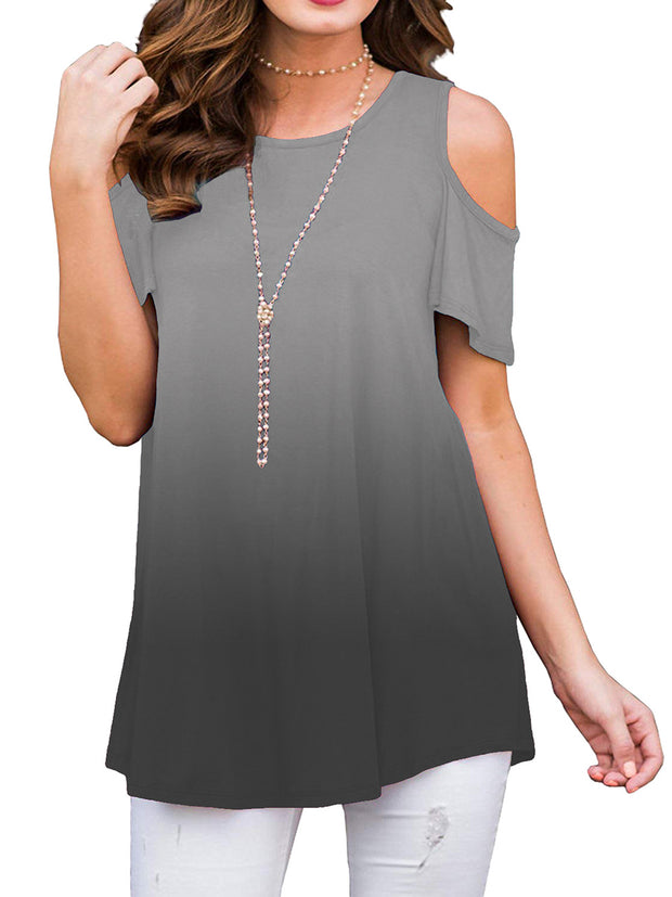 Gradient Off Shoulder T-shirt