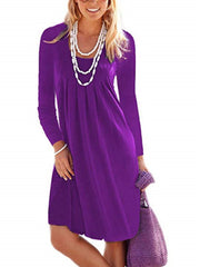 Round Neck large size Long Sleeves Dresses