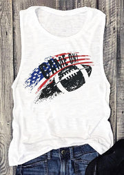 Game On American Flag Tank - White