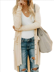 Button Sweater Long Sleeve Cardigan