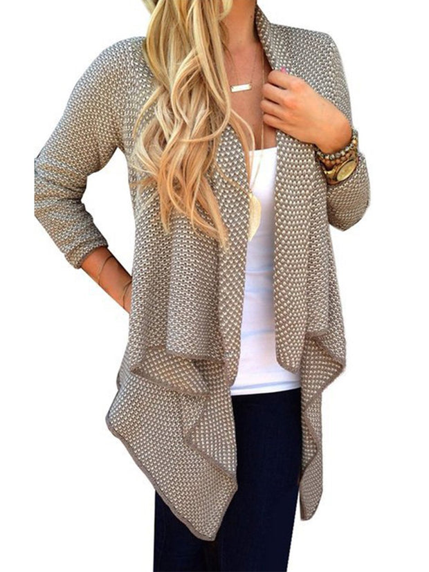 Casual Irregular Knitting Cardigan