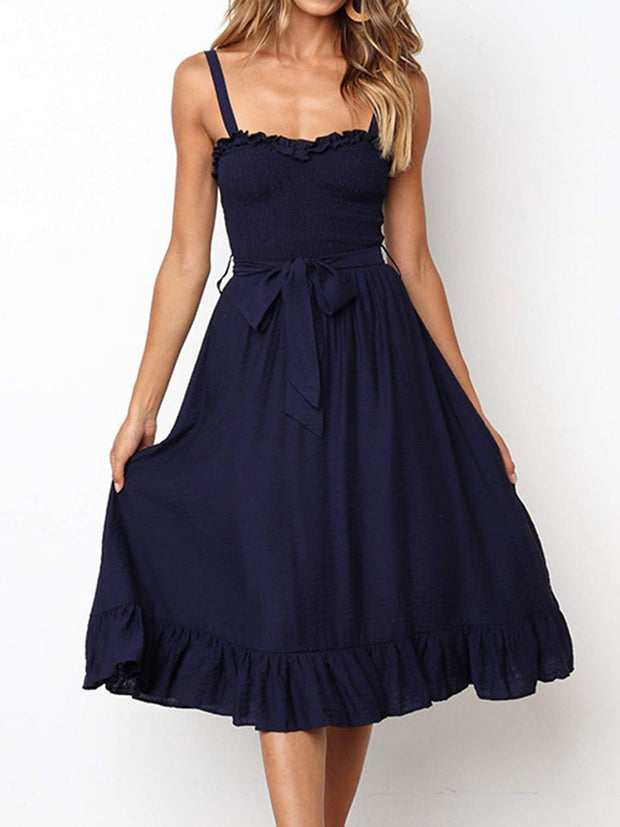 Casual Lace-up Dress