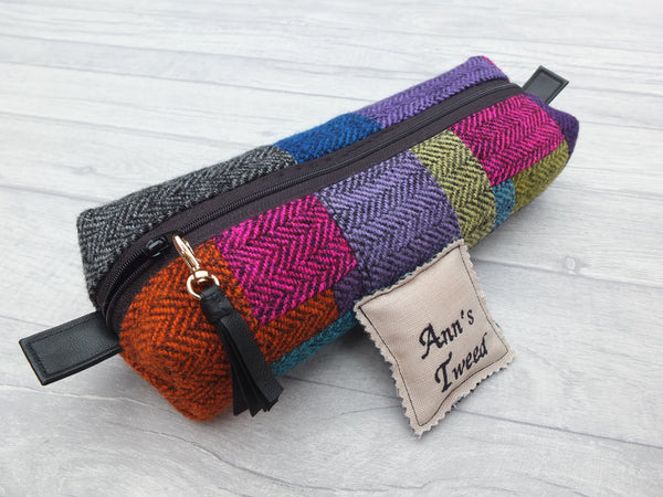 Multi Purpose Box Bag in Brightly Coloured Tweed