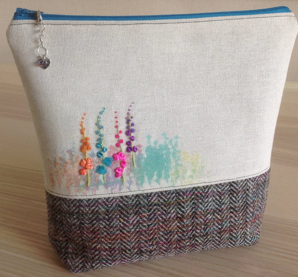 Knitting / Crochet / Notions / Crafty Project Bag with LIBERTY LAWN pocket