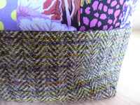 Kaffe Fassett Patchwork and Ann`s Tweed Large Storage Bag.
