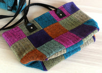 Tweed tote bag shown flat