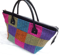 The Isabel Patchwork Herringbone Tweed Tote Bag