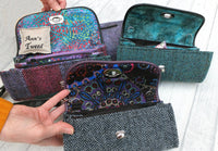 Necessary Clutch Purse in 3 Tweed variations