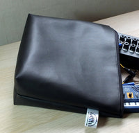 Black Vinyl Accessory Zipped Pouch Bag