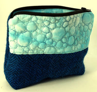 Small rich blue project bag