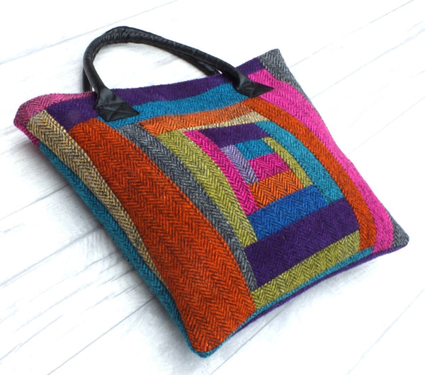Zoe Richly Coloured Tweed Tote Bag