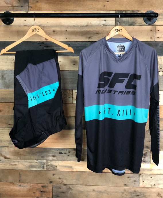 SFC/DMK GREY-TEAL BLUE  MX JERSEY