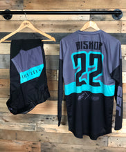 Load image into Gallery viewer, SFC/DMK GREY-TEAL BLUE  MX JERSEY