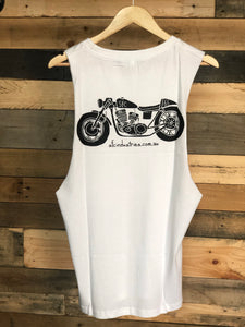 SFC CAFE RACER CUT SLEEVE TEE