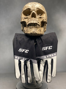 SFC INDUSTRIES BLACK/WHITE MX GLOVES