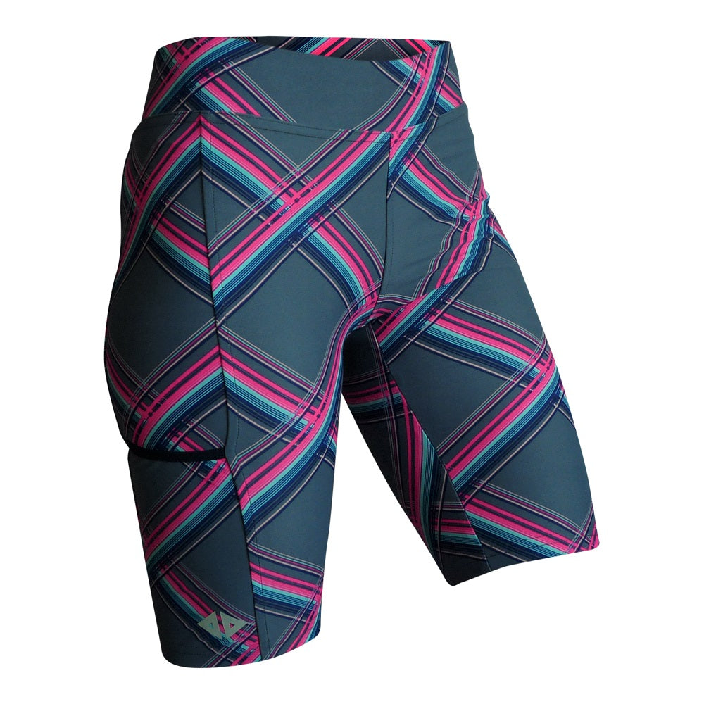short biker largo Esconeon dama