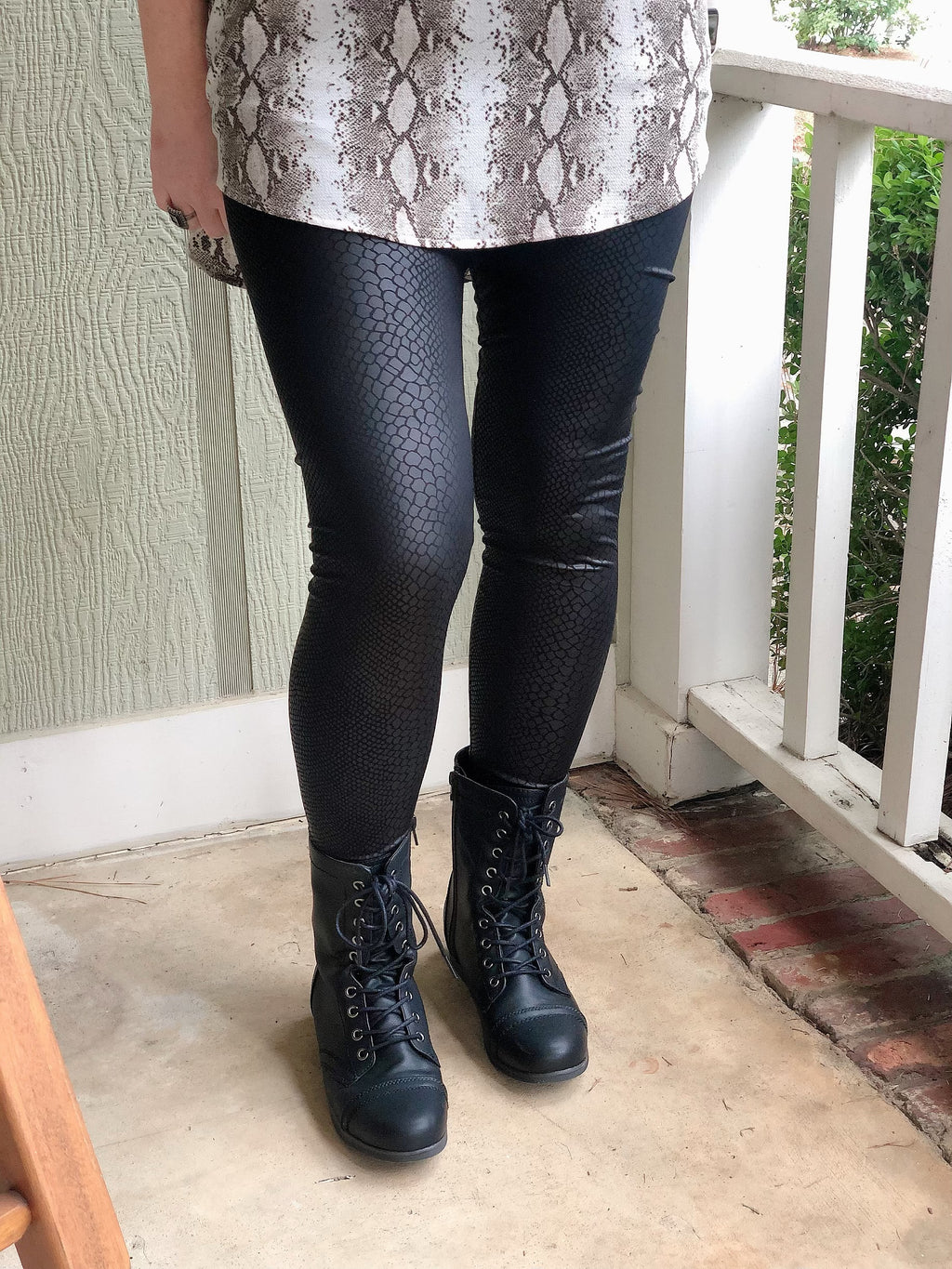 On the Prowl Faux Leather Leggings