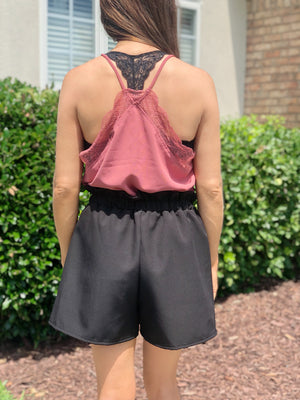 Always Sweet Mauve Lace Cami