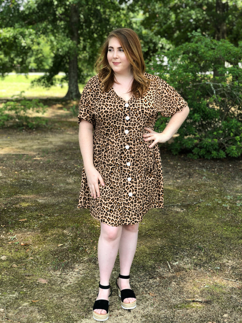 Swing Into Fall Leopard Dress