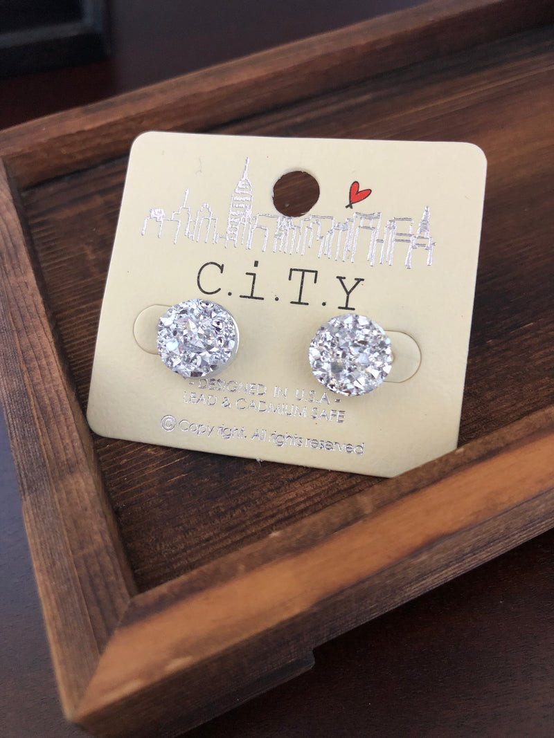 Simply Stylish Silver Post Earrings
