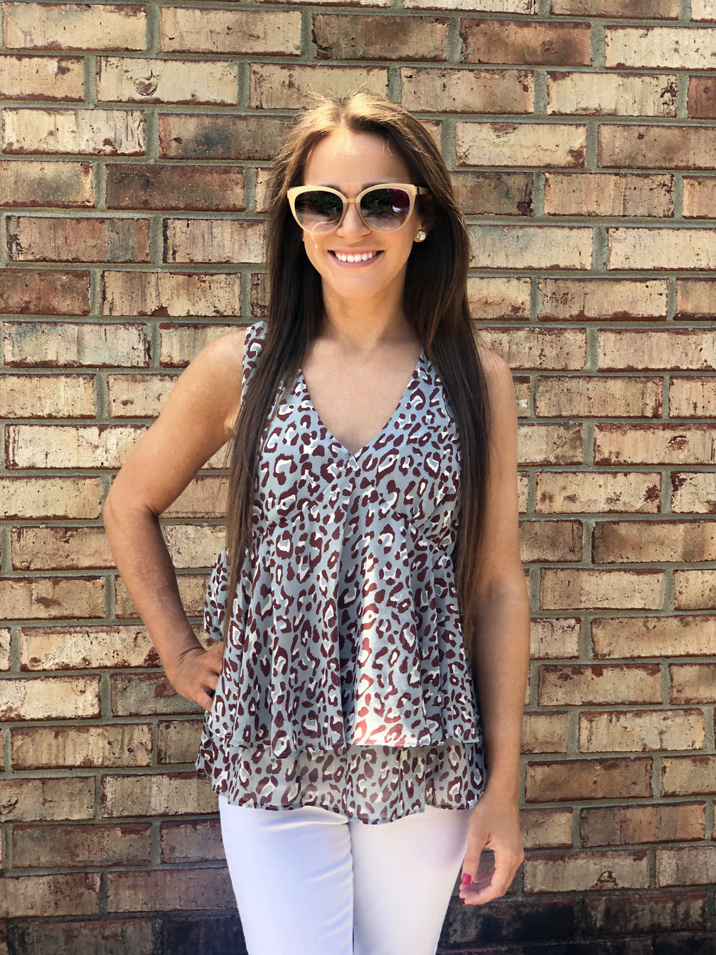 Wild Thing Leopard Ruffle Top