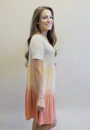 Peach Ombre Dress