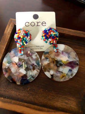 Spinning For You Round Disc Earrings - Emmy Lu & Auggie