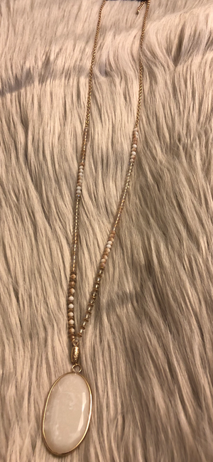 Simply Me White Beaded Necklace - Emmy Lu & Auggie