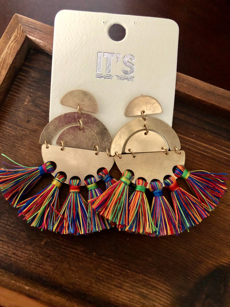 Lets Talk About It Multi Color Tassel Earrings - Emmy Lu & Auggie