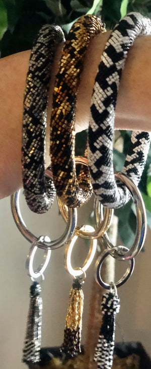 Bangle Beaded Keychain